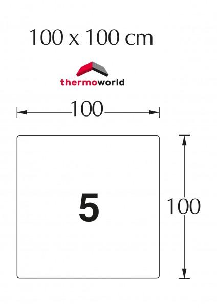 Ofen Glasbodenplatte 100 x 100 cm Quadrat
