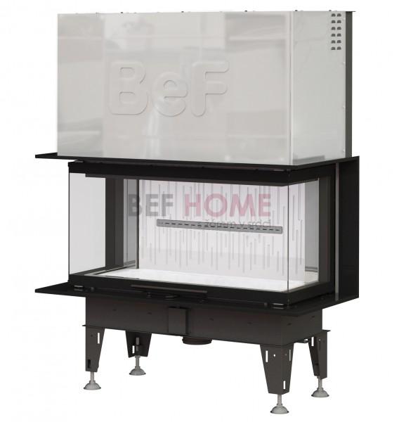 bef trend v10 c warmluft kamineinsatz panorama hochschiebbar 13 kw thermoworld ofenshop. Black Bedroom Furniture Sets. Home Design Ideas