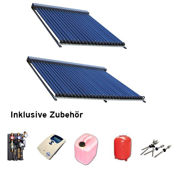Heatpipe Solaranlage Set HP Aluminium schwarz 8,31 qm