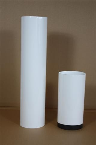 Pellet Abgasrohr, Senotherm weiß L:15 cm, verschiedene Ø