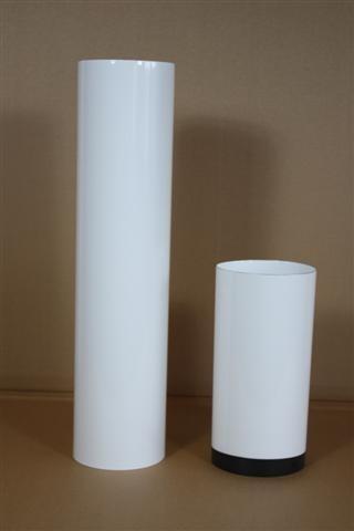 Warmluftrohr, Senotherm weiß L:100 cm Ø 80 mm