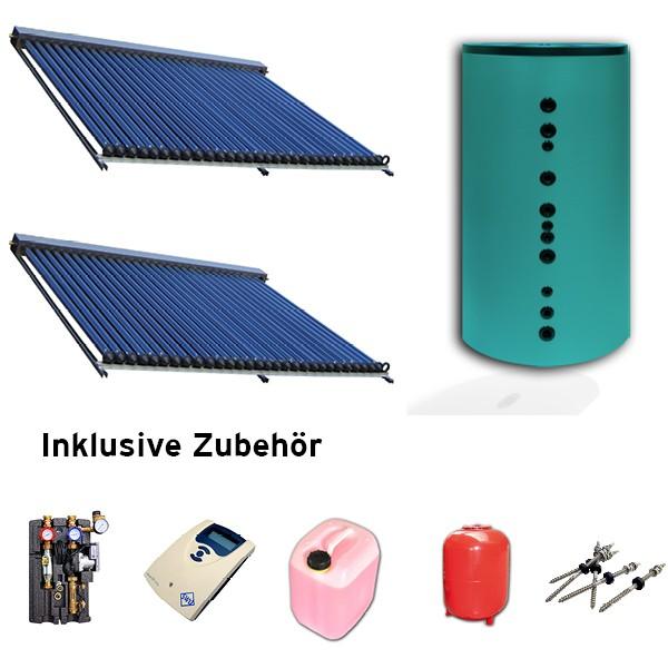 Solaranlagen-Set 9,9 qm Aluminium mit 500 Liter Hygienespeicher
