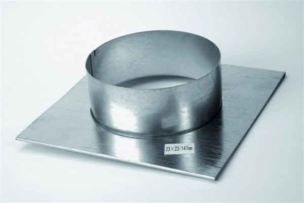 Stutzenblech für Luftgitter, Maße 23x23 mit Anschlusstutzen, verschiedene Größen