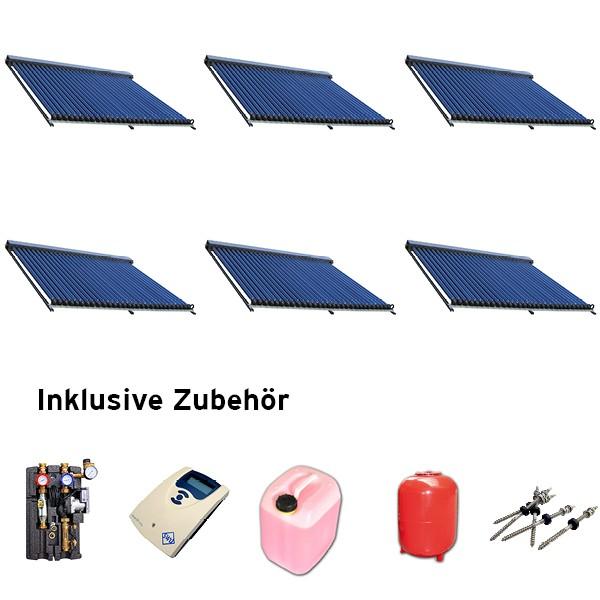 Heatpipe Solaranlage Set HP Aluminium schwarz 29,7 qm