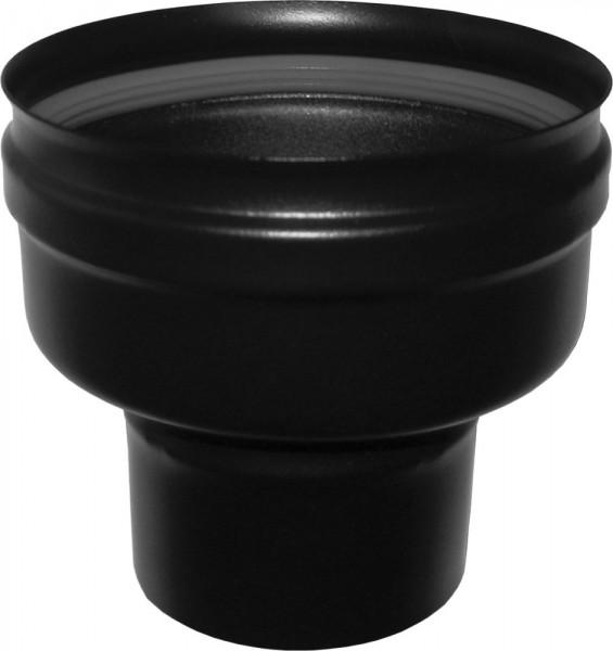 Pelletrohr-Erweiterung Ø 80mm M → 100mm F, druckdicht