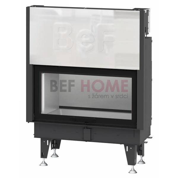 BeF Twin V10 N Warmluft-Kamineinsatz Tunnelkamin, Tür hochschiebbar, mit hinterer Stahltür 14 kW