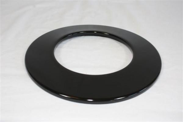 Warmluftrohr Rosette Ø 80 mm, Senotherm schwarz