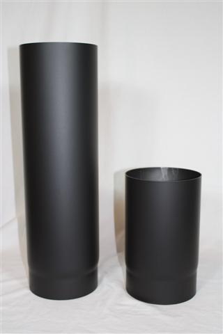 Pellet Rauchrohr, Ø 100 mm L: 50 cm, Standard-Line Schwarz