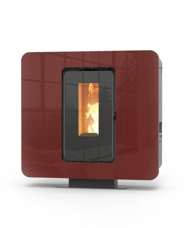 Thermorossi Slimquadro 9 Pelletofen Bordeaux
