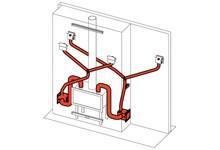 EdilKamin KIT Air Diffuser 2 - Ventilator zur Verteilung der Warmluft