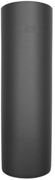 Pellet Abgasrohr, Ø 100 mm L: 100 cm, Standard-Line Schwarz