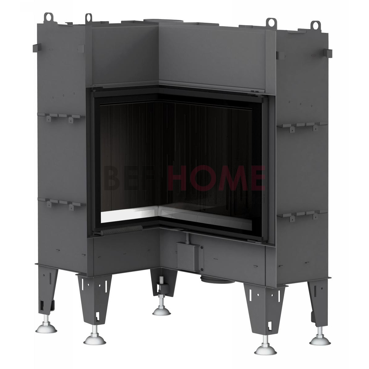 bef flat 6 l warmluft kamineinsatz eckkamin thermoworld ofenshop. Black Bedroom Furniture Sets. Home Design Ideas
