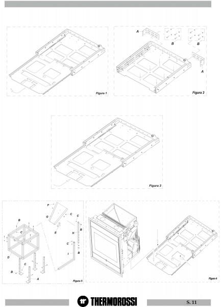 Thermorossi mobiles Kit für Pellet-Einbauofen Insert 490/600