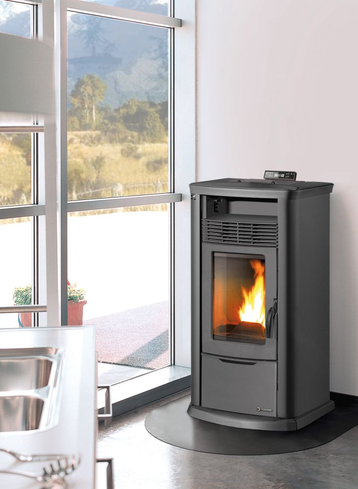 thermorossi 7000 metalcolor pelletofen 13 9 kw thermoworld ofenshop. Black Bedroom Furniture Sets. Home Design Ideas