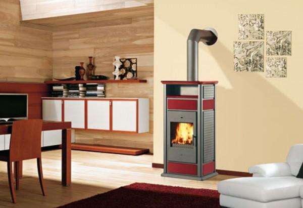 EdilKamin Warm CS, Kaminofen wasserführend, Keramik, mit Warmhalteplatte 14,5/19,7 kW, SONDERPOSTEN