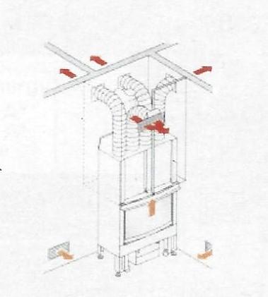 KIT CINQUE/BIS Warmluftverteilung Aluminium