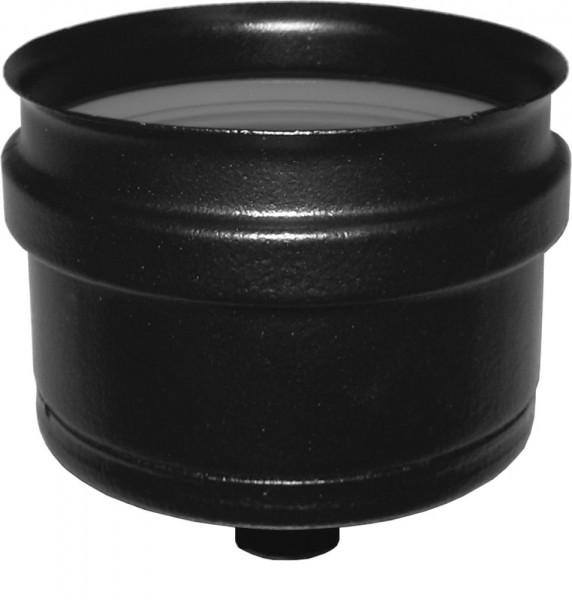 Blindkappe Ø 80mm für Rauchrohr / Ofenrohr mit Kondensatablauf, druckdicht