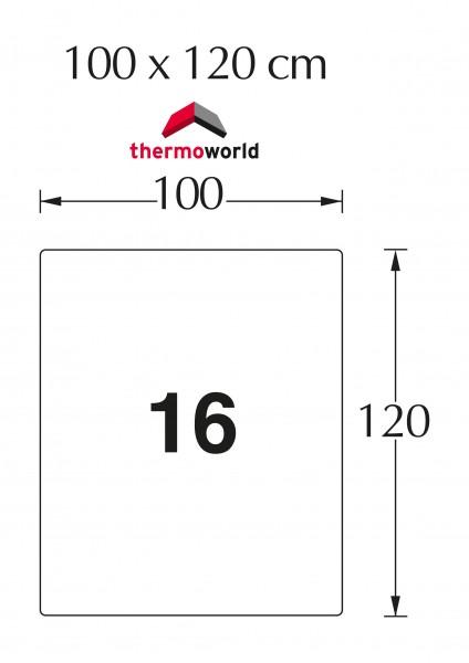 Ofen Stahlbodenplatte 80 x 100 cm Rechteckig