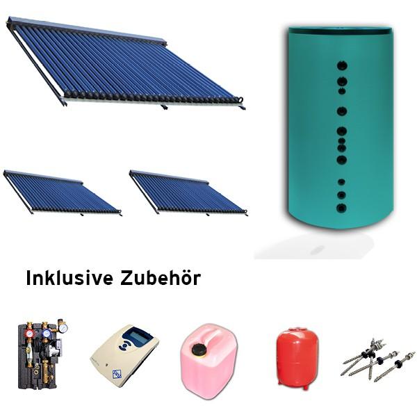 Solaranlagen-Set 14,85 qm Aluminium mit 800 Liter Hygienespeicher