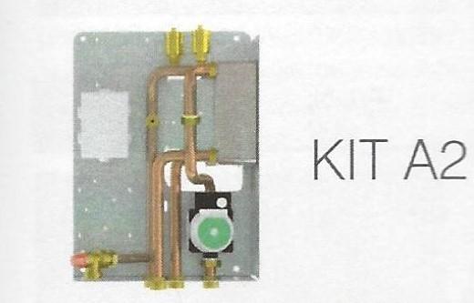 Kit A 2 EdilKamin für wassergeführte Pelletöfen / mit Plattenwärmetauscher