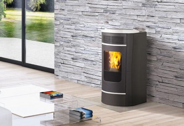 edilkamin sally plus stahl pelletofen 10 kw thermoworld ofenshop. Black Bedroom Furniture Sets. Home Design Ideas