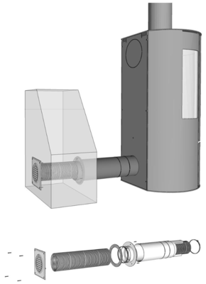 Aduro Hybrid Frischluftsystem, Ø 80mm