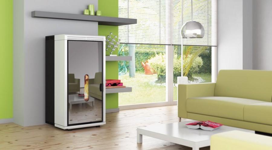 pelletofen an schornstein anschlie en heizung ofen. Black Bedroom Furniture Sets. Home Design Ideas